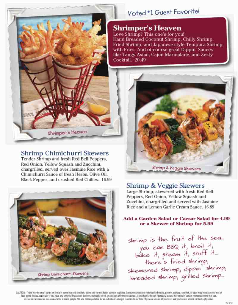 Shrimp basket coupons