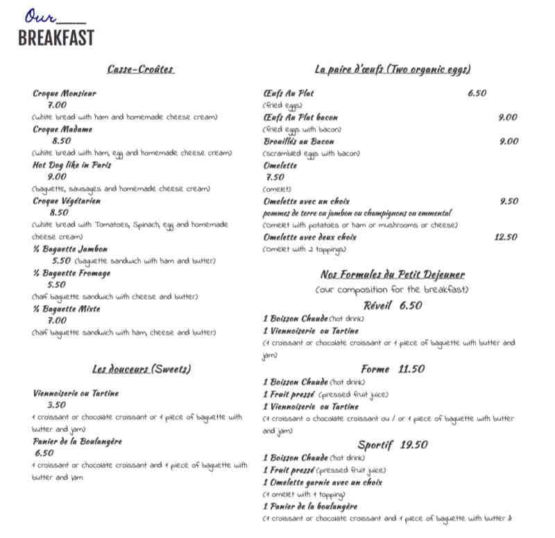 Populaire Menu for Le Cafe Francais (4777 S University Dr) VS69