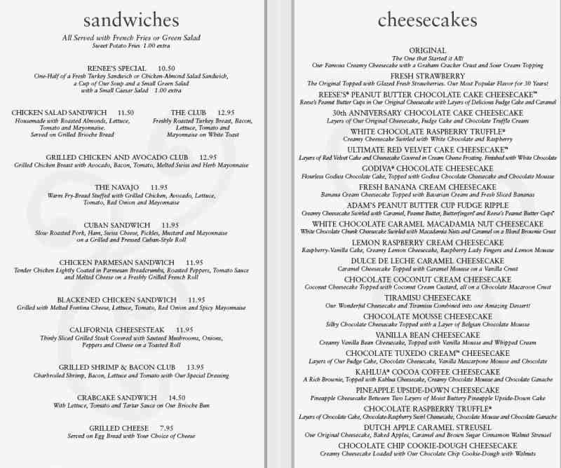 image relating to Cheesecake Factory Printable Menu referred to as Menu for The Cheesecake Manufacturing unit (620 E Las Olas Blvd\u003cbr\u003eFort