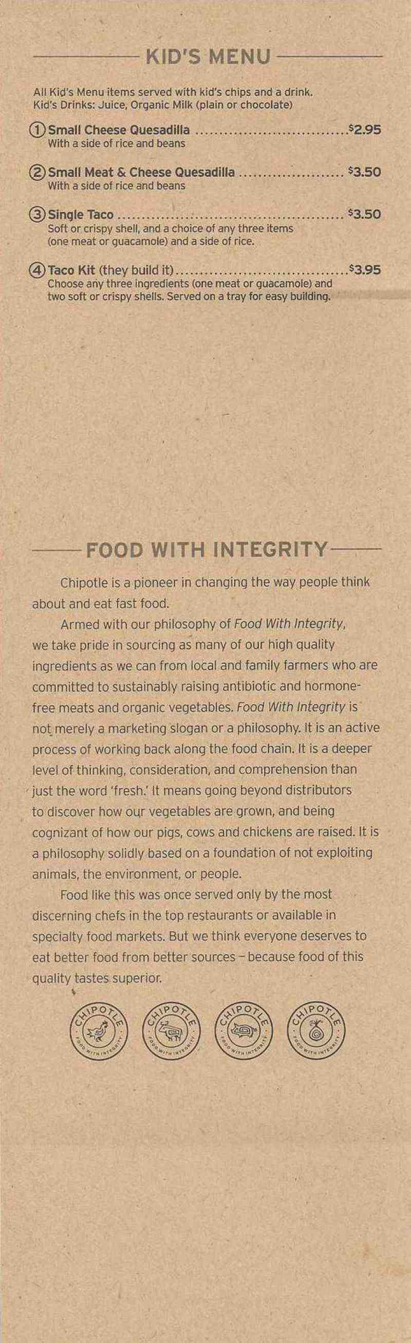 """chipotle the challenges of integrity Swot matrix and organizational strategic plan paper example 1: chipotle tows matrix strengths  chipotle has """"food with integrity"""" panera should look."""