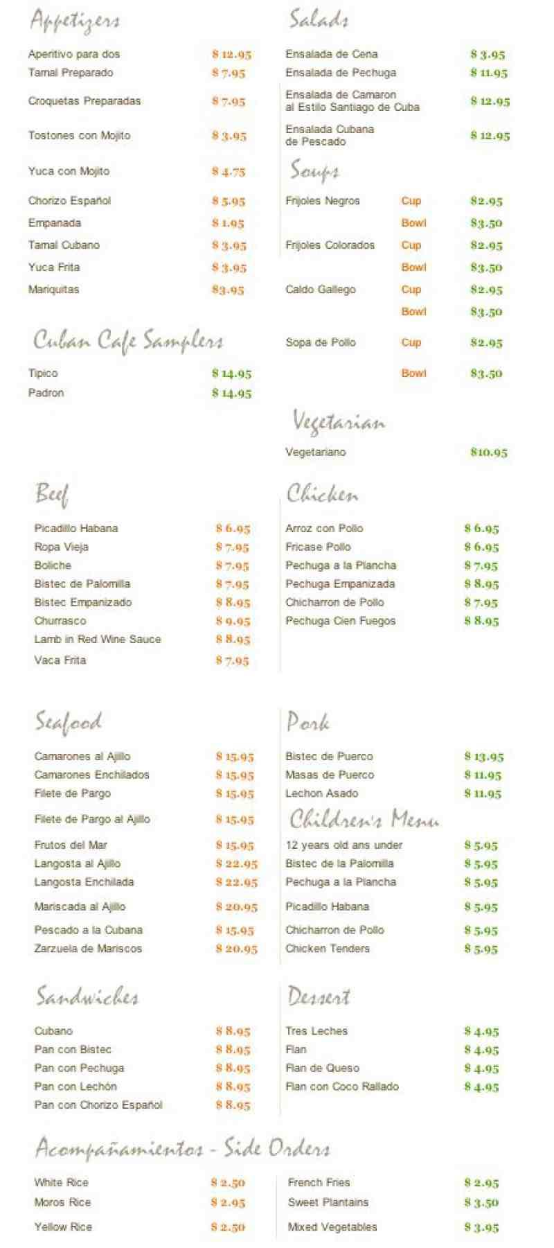 Sage Cafe Fort Lauderdale Prices