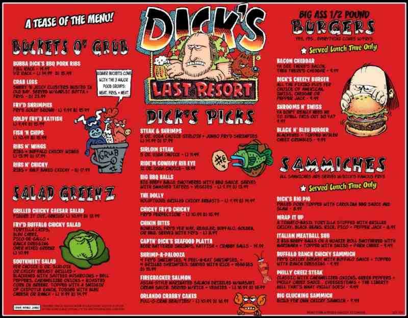 Fort Lauderdale Restaurant Menu