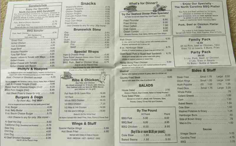 Permalink to Dixie Cafe Menu