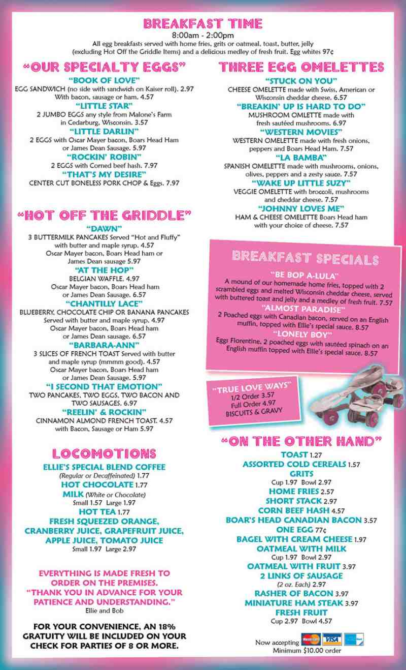American Girl Place Cafe Menu Prices