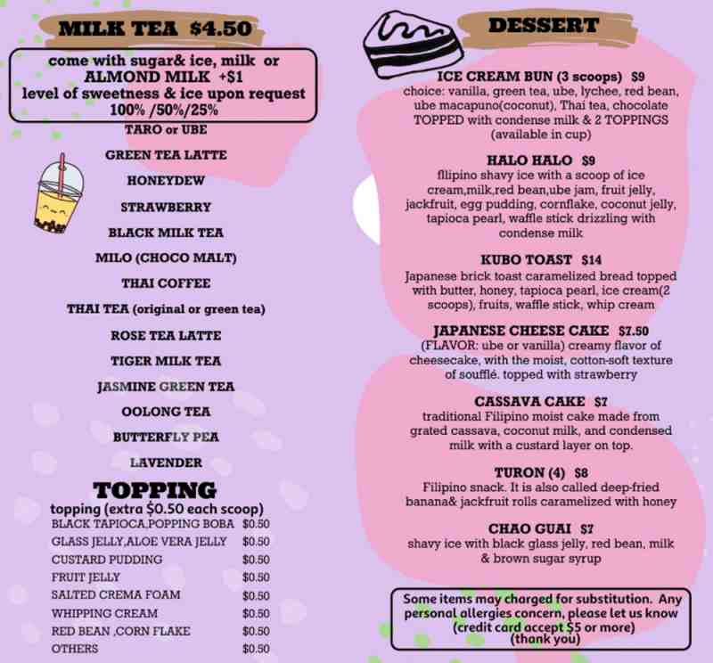 Menu for Kubo Asian Street Food And Sushi (753 SE 17th St)