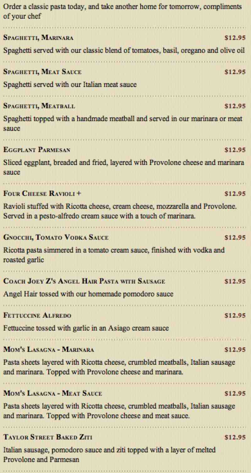 Check out the full menu for Maggiano's. When available, we provide pictures, dish ratings, and descriptions of each menu item and its price. Use this menu information as a guideline, but please be aware that over time, prices and menu items may change without being reported to our site/5(13).