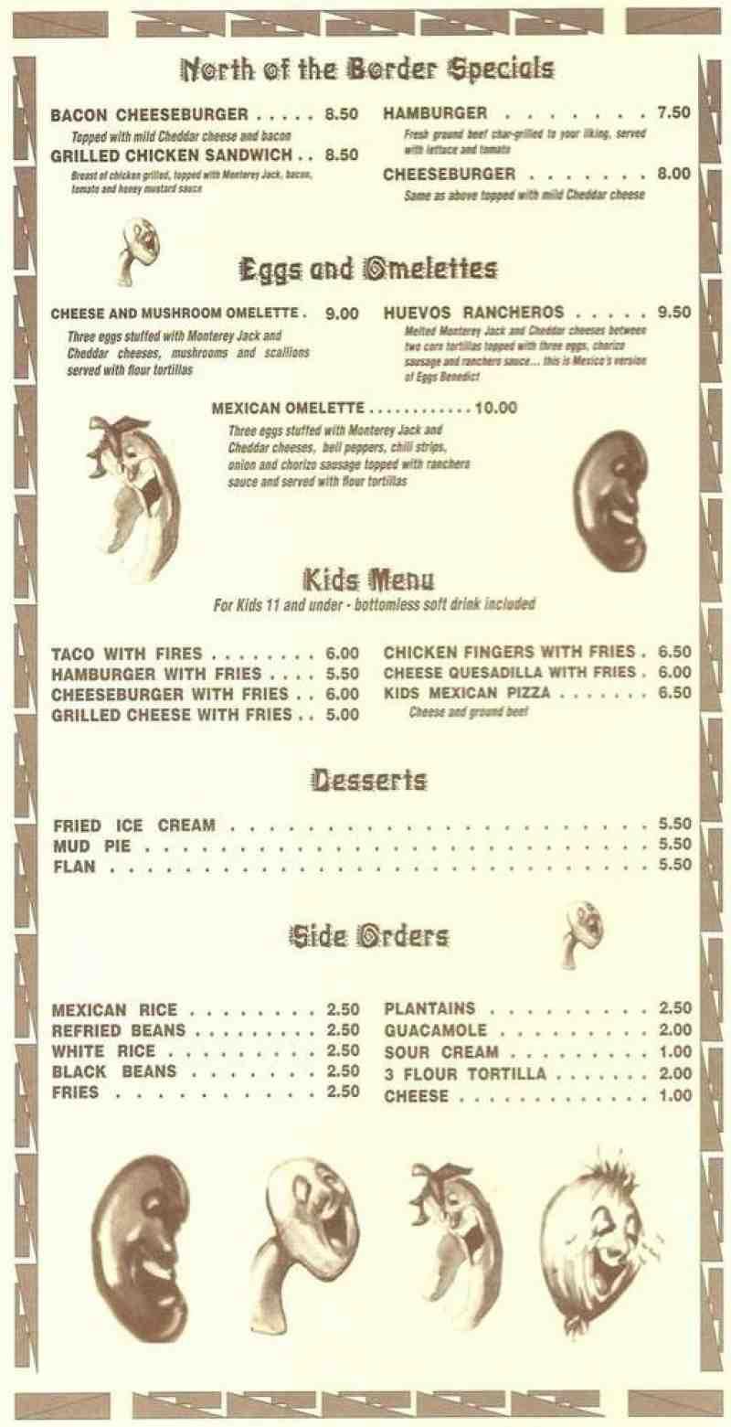Cafe Ole Menu Prices