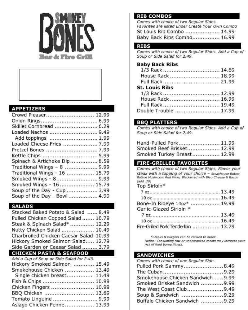 recipe: smokey bones menu [1]