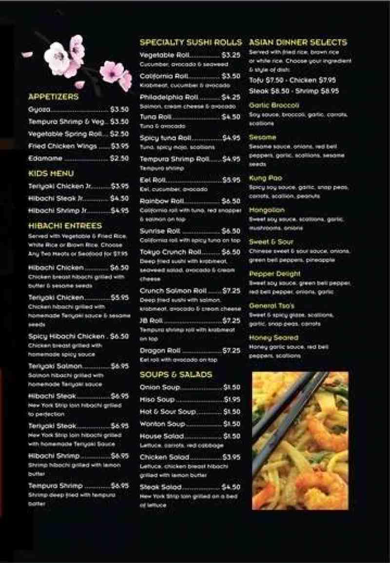 menu for tokyo grill 1719 e young circle u003cbr u003ehollywood fl 33020 rh insidefortlauderdale com tokyo buffet menu price tokyo asian buffet kelowna menu