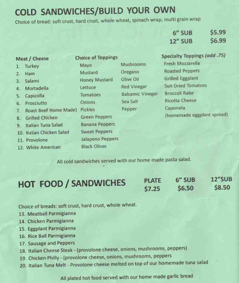 Menu For Uncle Gino S Pizza 1255 S Powerline Rd Pompano