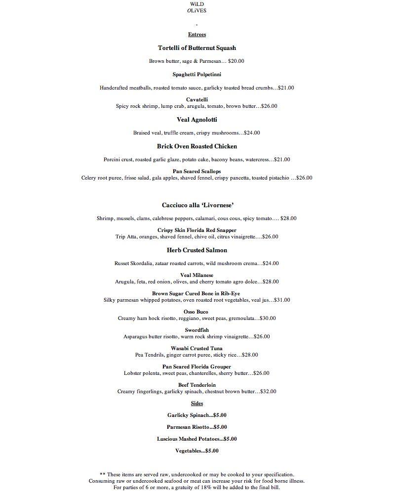 Menu For California Pizza Kitchen Town Center At Boca Mega Deals And Coupons