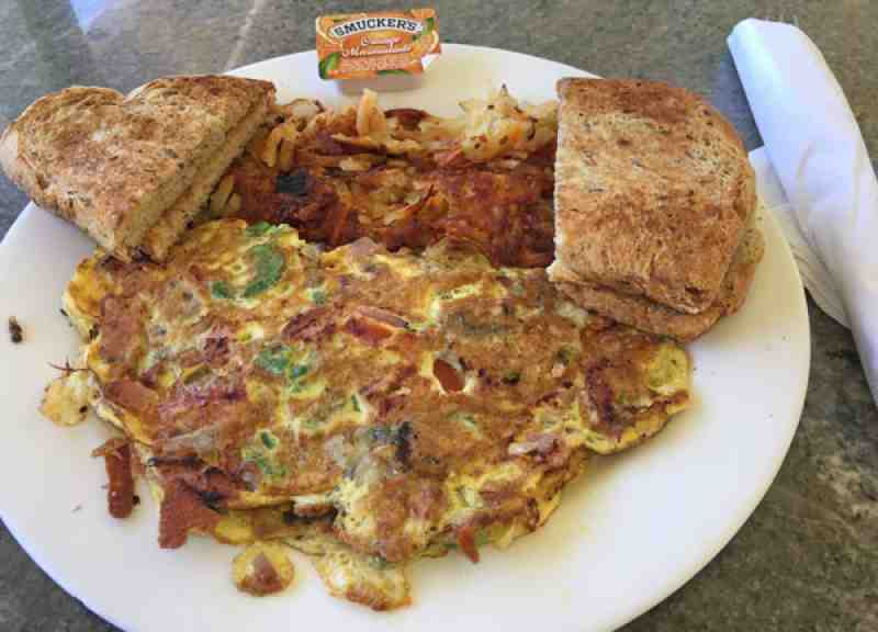 Anglins Beach Cafe Mermaid Omelet