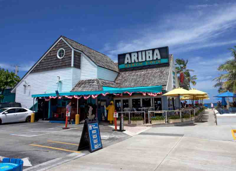 Aruba Beach Cafe Menu Lauderdale By The Sea Fl