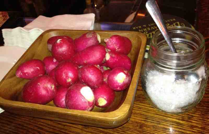 Complementary Radishes at Big City Tavern