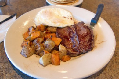 Original Pancake House Steak and Eggs