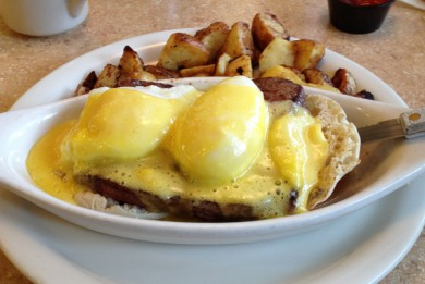 Original Pancake House Steak Benedict