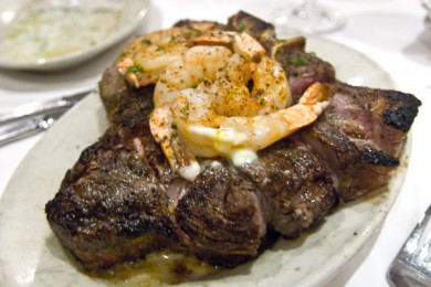 Ruth's Chris Porterhouse with Shrimp
