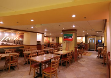 Sbarro Dining Area