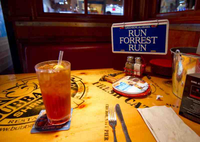 Bubba Gump Table