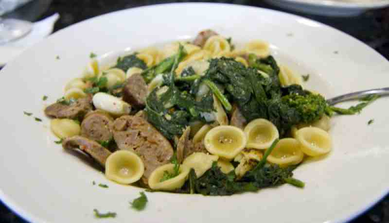 Orecchiette with Rapini and Italian Sausage