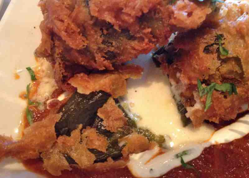 Cheesecake Factory Chile Rellenos Close