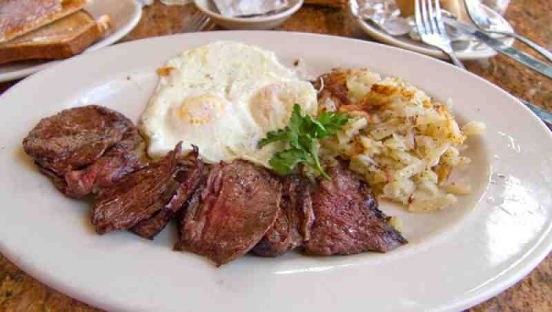 how to make steak and eggs