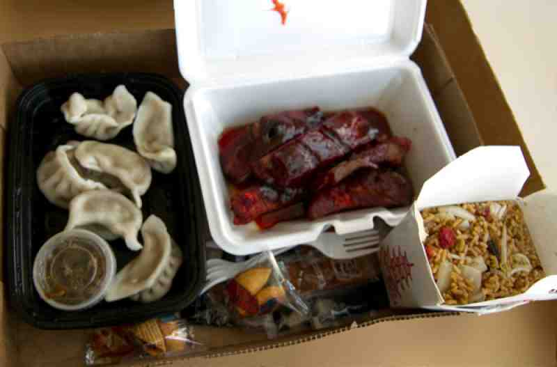 chens garden bbq ribs steamed dumplings and pork fried rice - Chens Garden