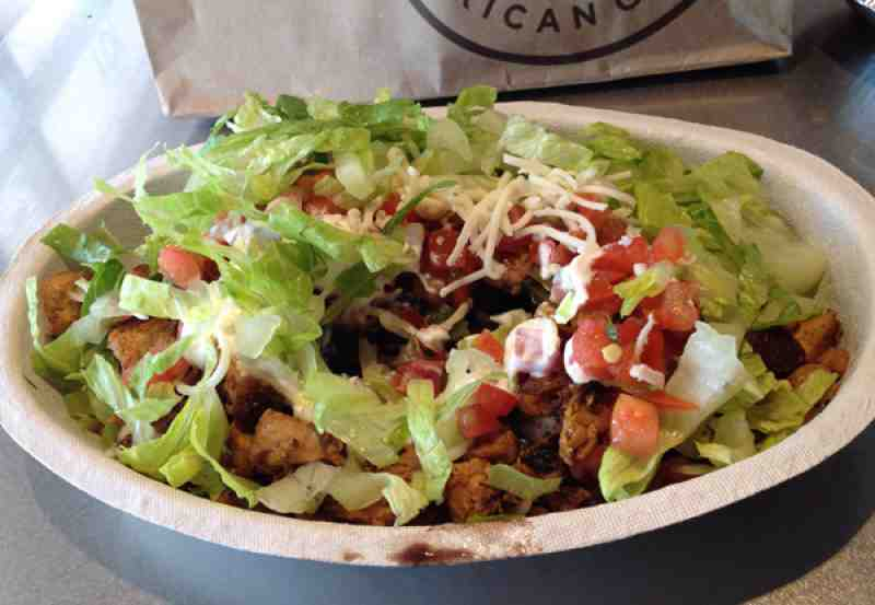 how to order a burrito bowl at chipotle