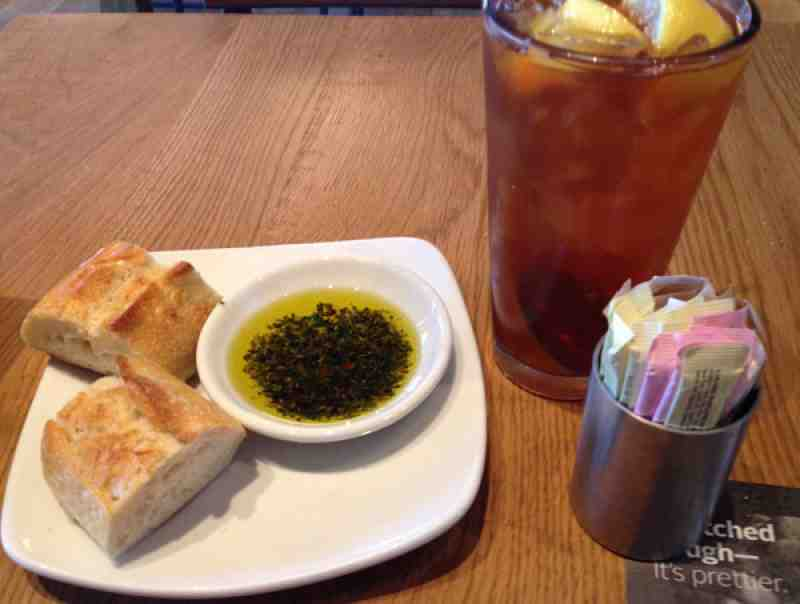 CPK Iced Tea and Bread