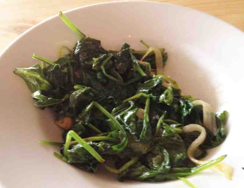 DBA Cafe Sauteed Spinach