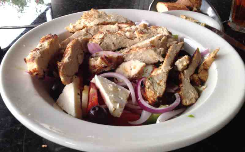 Greek Islands Taverna Lunch Greek Salad w/Chicken