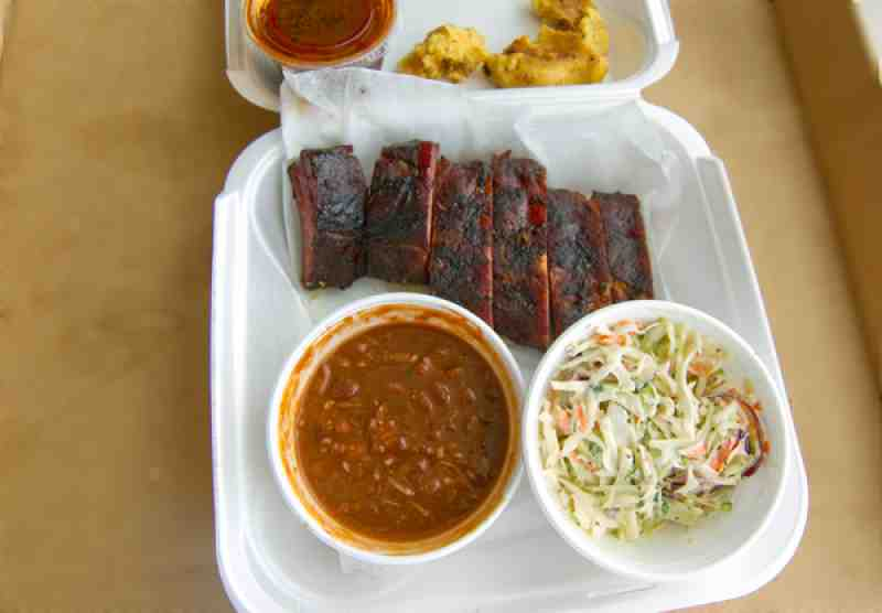 Hickory Sticks Baby Back Ribs, Beans and Cole Slaw