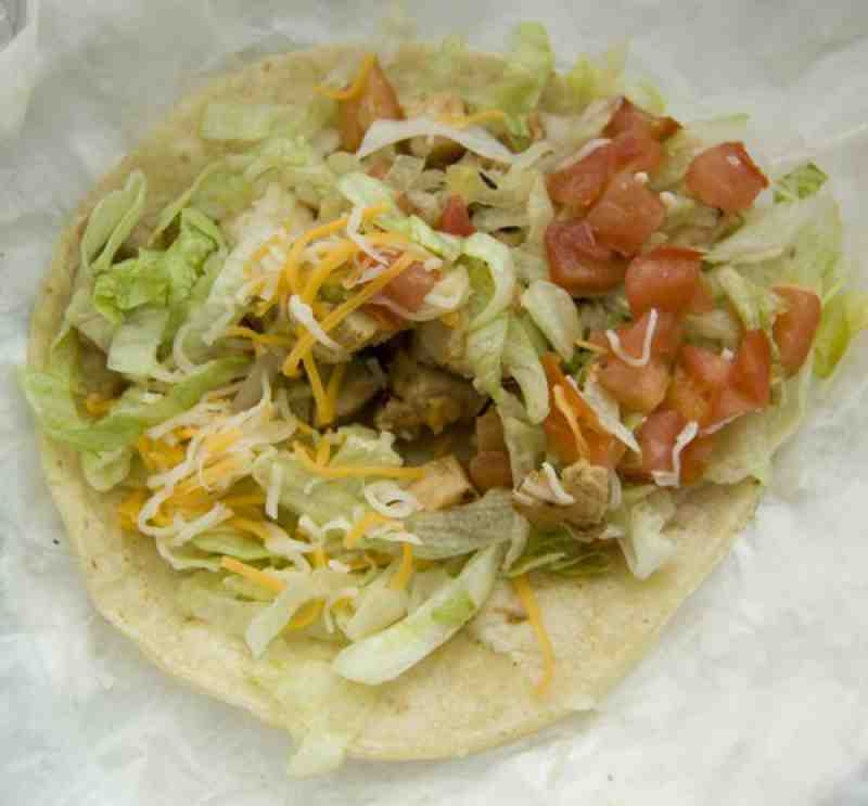Hot Tomatos Chicken Taco