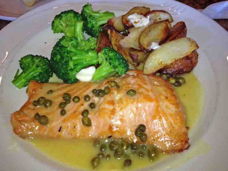 Il Mulino Salmon Piccata Lunch