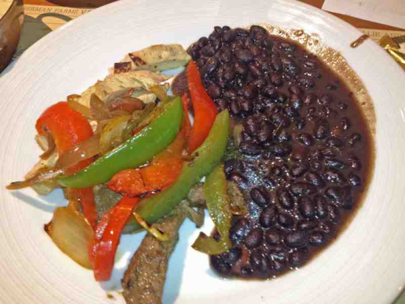 Isle Buffet Black beans and