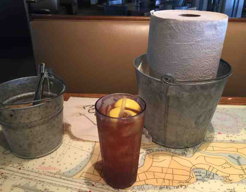 Joes Crab Shack Beverage, Bucket and Towels