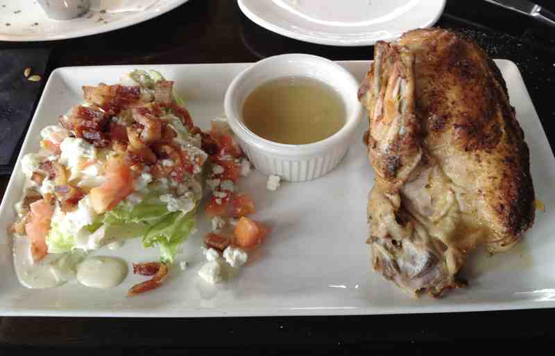 Kaluz Half Chicken and Wedge Salad