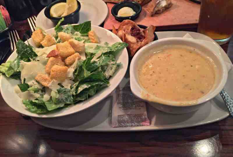 Longhorn Soup and Salad $7 Lunch Combo