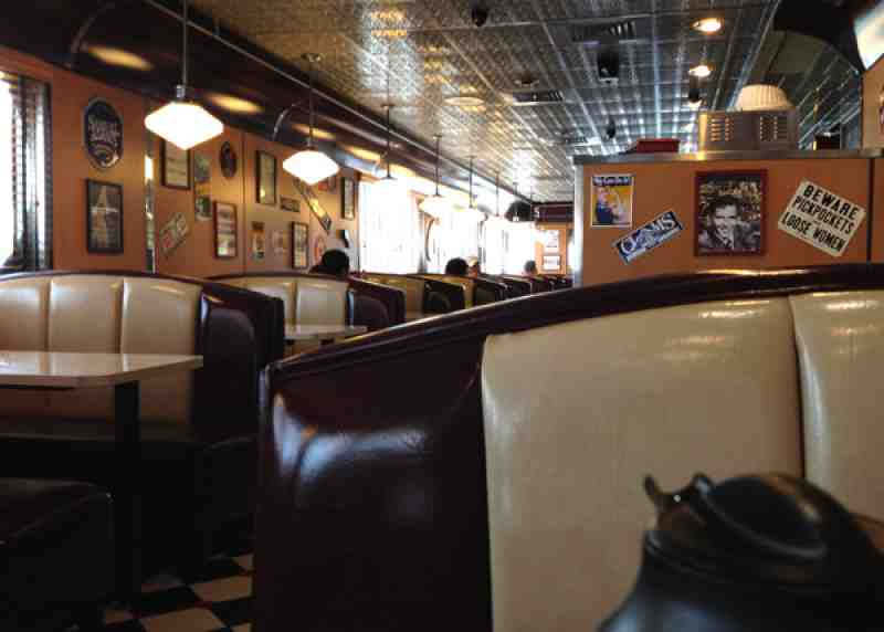 Moonlite Diner Hollywood Interior
