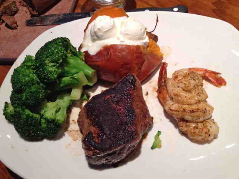 Outback Sirloin with Grilled Shrimp