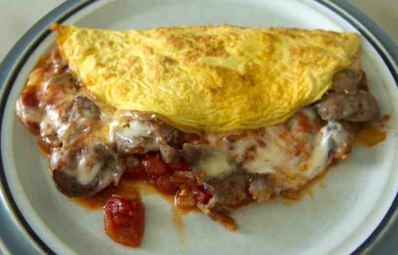 Italian Sausage Omelet