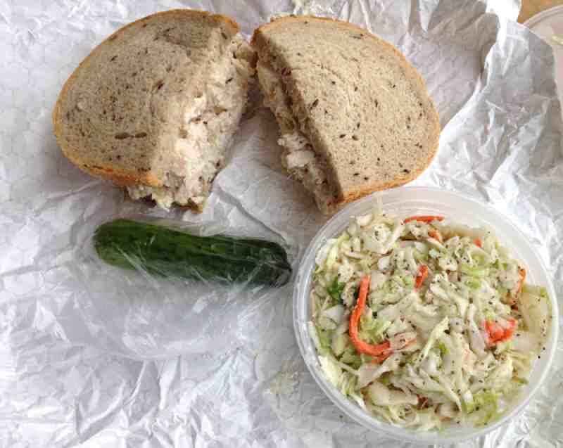 Pomperdale Chicken Salad and Cole Slaw