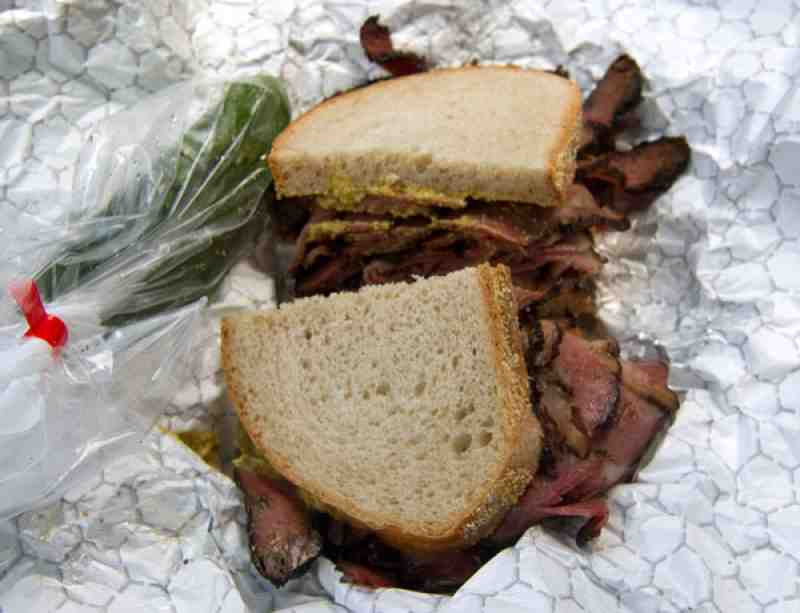 Pomperdale Pastrami  on Seedless Rye