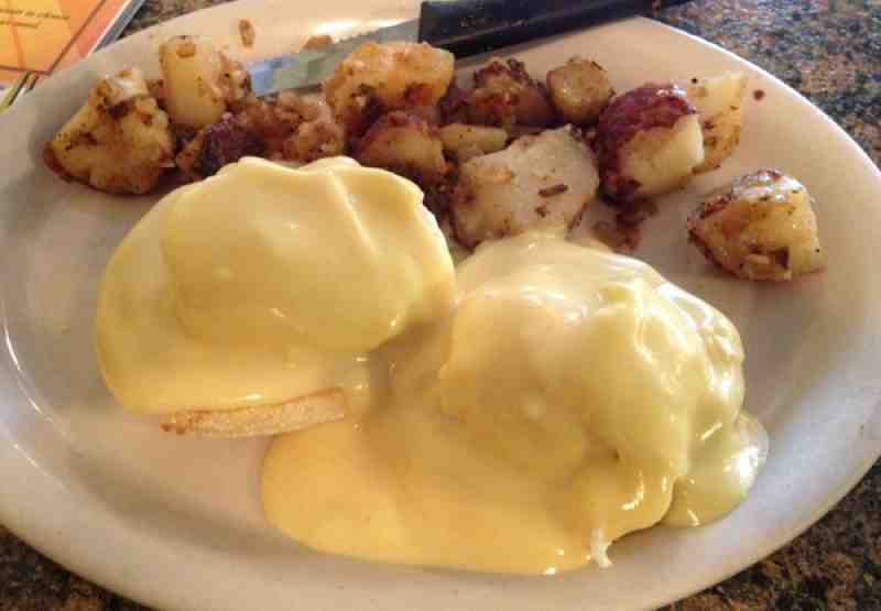 Red Fox Diner Eggs Benedict