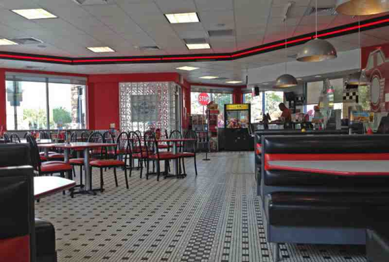 Steak n Shake Interior, Davie FL