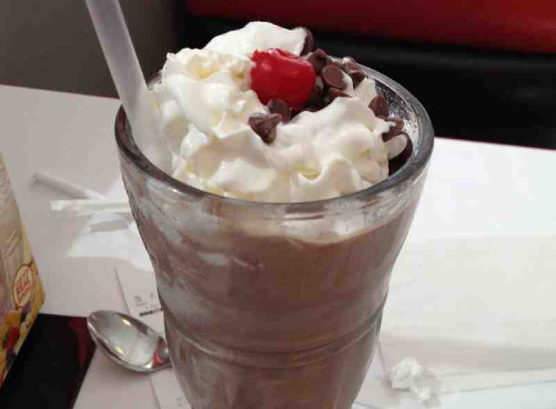 Steak n Shake Dark Chocolate Shake