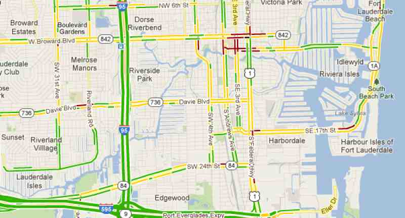 Traffic Map for Fort Lauderdale