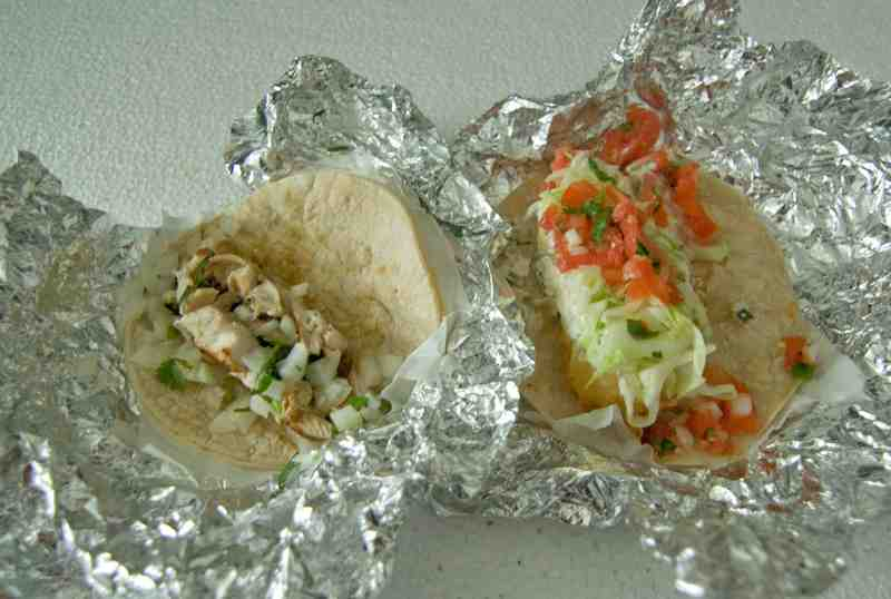 Chicken and Baja Fish Tacos